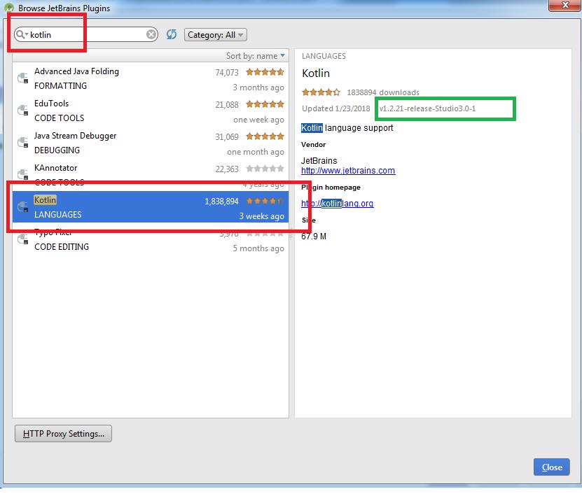 Updating Kotlin version in Gradle inside Android Studio